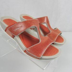 Dansko Kendall Sandals Orange Leather Size 39 9